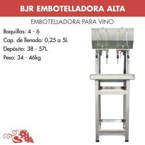 Embotelladora para vino alta inox por gravedad sin filtro y sin bomba