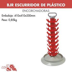 Escurridor de plástico desmontable para botellas