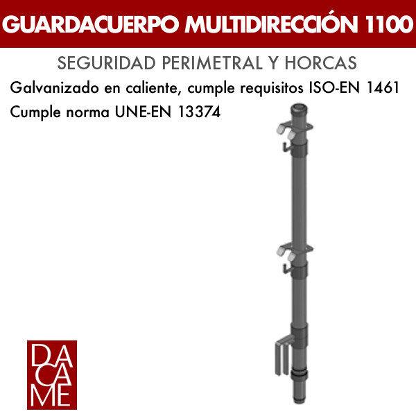 Guardacuerpo multidireccional Dacame 1100