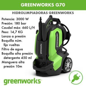 hidrolimpiadora eléctrica Greenworks G70