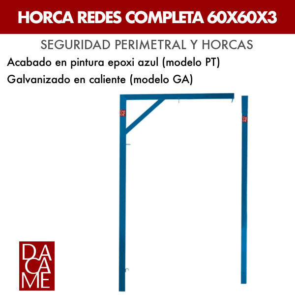 Horca redes completa Dacame 60X60X3 (Lote 15 ud.)