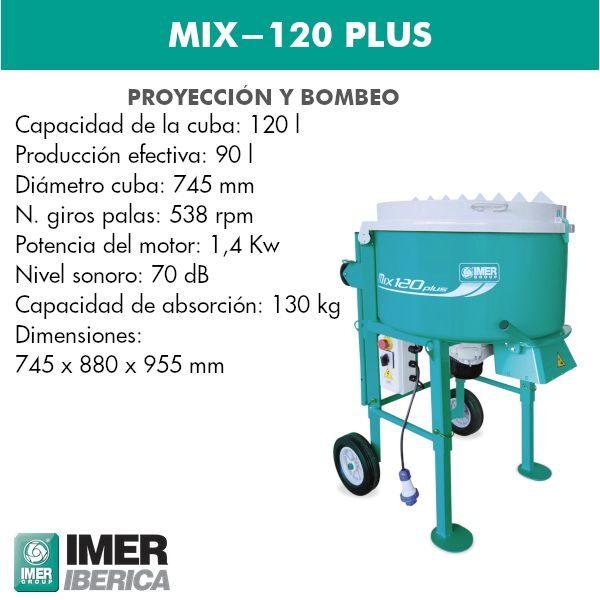 mezcladora mix-120 plus
