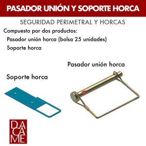 Pasador unión y soporte Horca