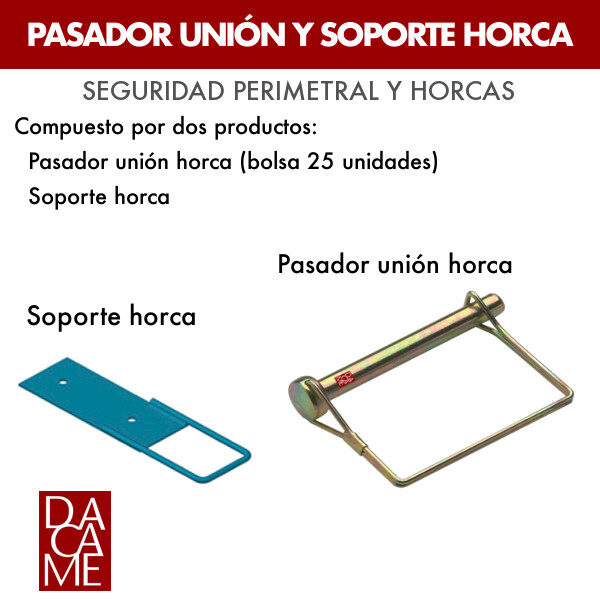 Pasador unión horca y soporte horca Dacame