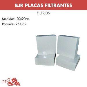 Placas filtrantes de celulosa 20x20cm (paquetes de 25 Uds)