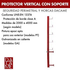 Protector vertical con soporte Dacame