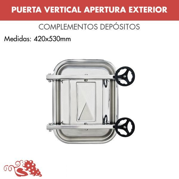 Puerta vertical de apertura exterior