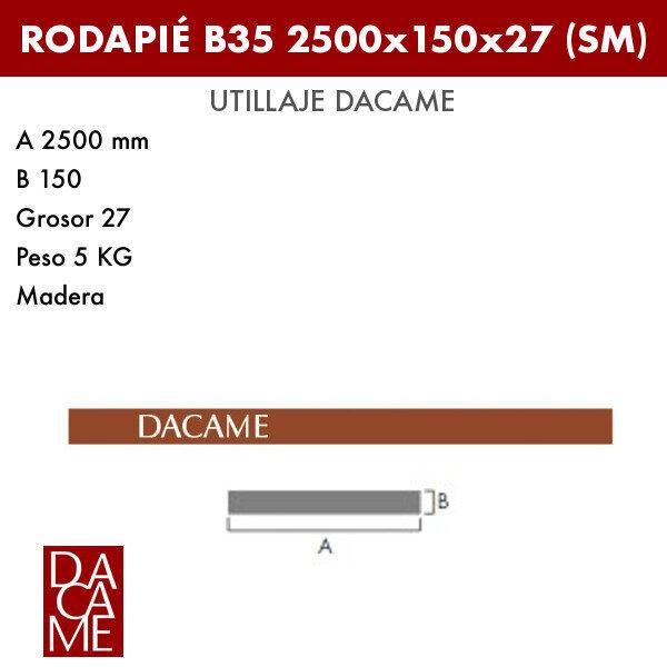 Rodapié Dacame B35 2500x150x27 (MD) (Lote 50 ud.)