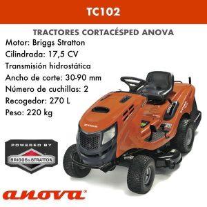 tractor cortacesped anova tc102