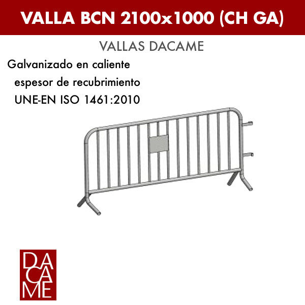 Valla Dacame BCN 2100x1000 CH GA