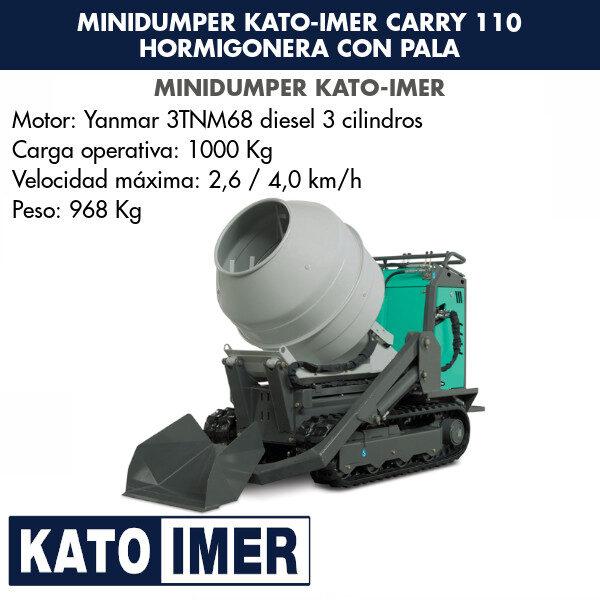Minidumper Kato-Imer CARRY 110 Hormigonera con pala