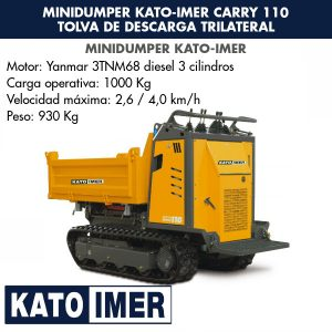 Minidumper Kato-Imer CARRY 110 Tolva de descarga trilateral