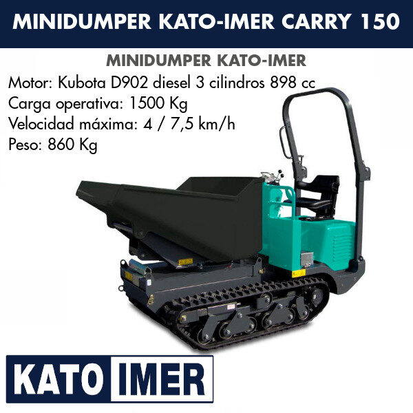 Minidumper Kato-Imer CARRY 150