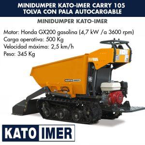 Minidumper Kato-Imer CARRY 105 Tolva con pala autocargable