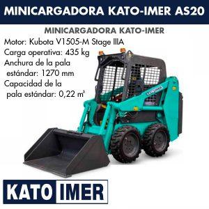 Minicargadora Kato-Imer AS20