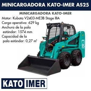 Minicargadora Kato-Imer AS25