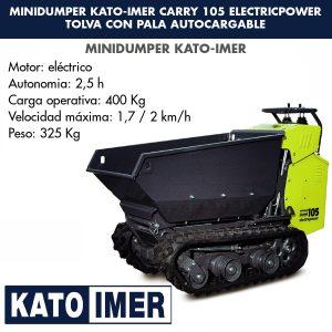 Minidumper Kato-Imer CARRY 105 Electricpower Tolva con pala autocargable
