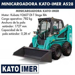 Minicargadora Kato-Imer AS28