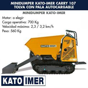 Minidumper Kato-Imer CARRY 107 Tolva con pala autocargable