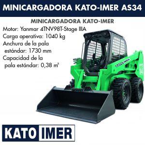 Minicargadora Kato-Imer AS34