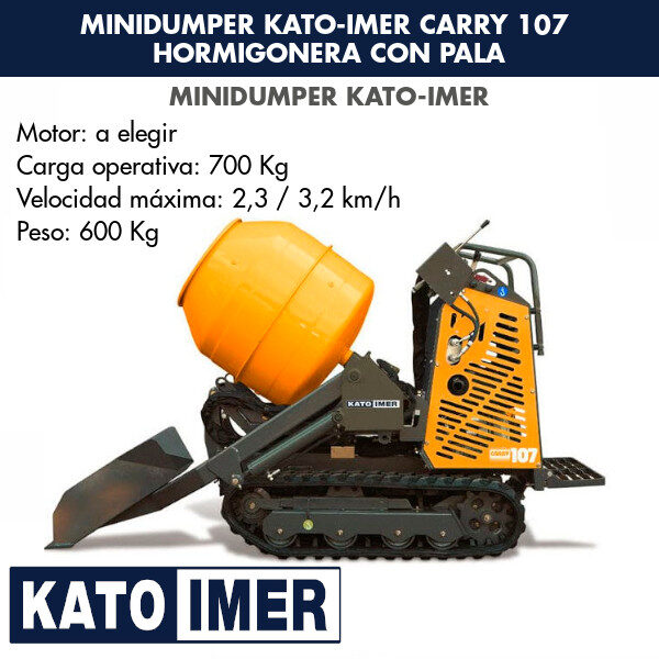 Minidumper Kato-Imer CARRY 107 Hormigonera con pala