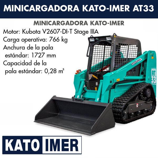 Minicargadora Kato-Imer AT33