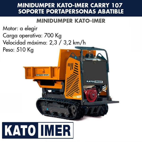 Minidumper Kato-Imer CARRY 107 Soporte portapersonas abatibles