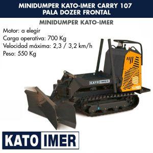 Minidumper Kato-Imer CARRY 107 Pala dozer frontal
