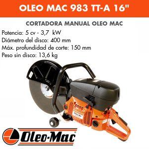 """Cortadora Oleo Mac 983 TT-A 16"""""""