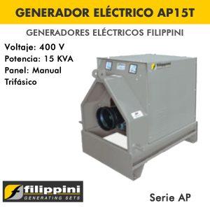 Generador eléctrico toma fuerza tractor Filippini AP15T 15 KVA Trifásico