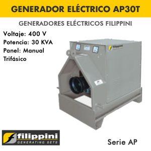Generador eléctrico toma fuerza tractor Filippini AP30T 30 KVA Trifásico