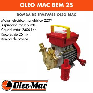 Bomba de trasvase Oleo Mac BEM 25