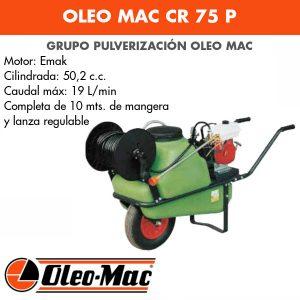 Grupo pulverización Oleo Mac CR 75 P