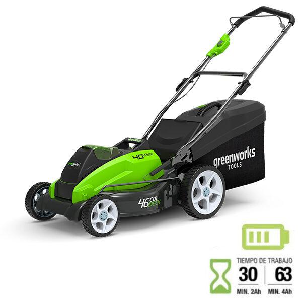 Cortacesped bateria Greenworks G40LM45 40 V