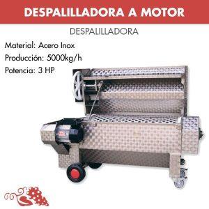 Despalilladora a motor equipada con una bomba centrífuga para la transferencia