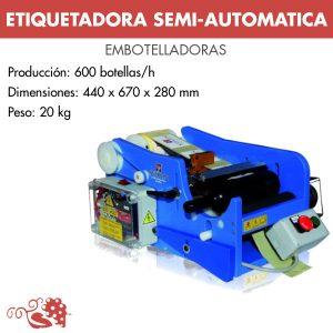 ETIQUETADORA SEMI-AUTOMATICA SOBREMESA