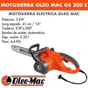 Motosierra Oleo Mac GS 200 E