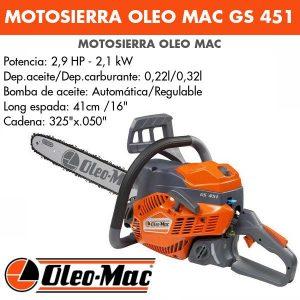 Motosierra Oleo Mac GS 451
