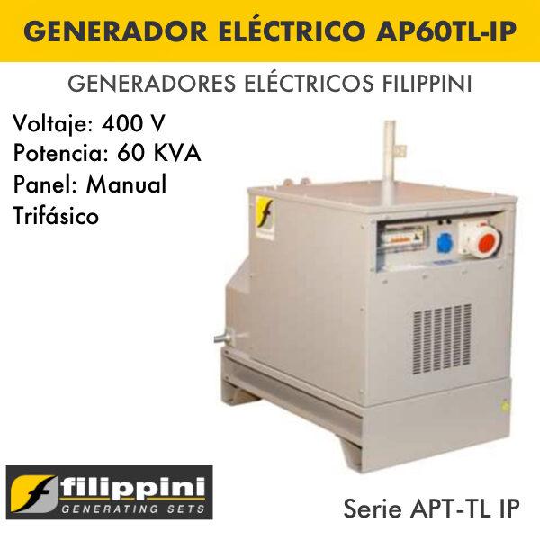 Generador eléctrico filippini AP60TL-IP