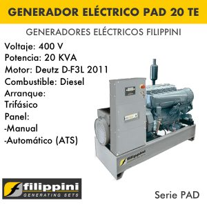Generador eléctrico filippini PAD 20TE