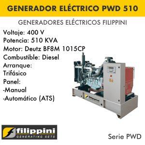 Generador eléctrico filippini PWD 510_1