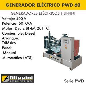 Generador eléctrico filippini PWD 60_1