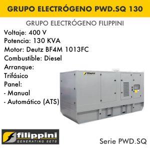 Generador eléctrico filippini PWD.SQ 130