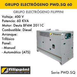 Generador eléctrico filippini PWD.SQ 60