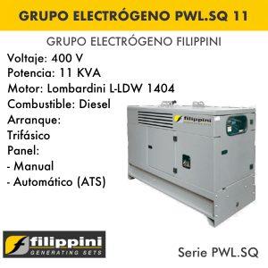 Generador eléctrico filippini PWL.SQ 11