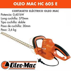 Cortasetos Eléctrico Oleo Mac HC 605 E