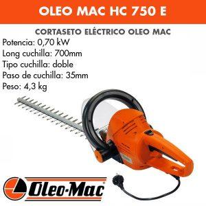 Cortasetos Eléctrico Oleo Mac HC 750 E