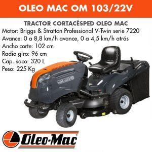 Tractor Cortacésped Oleo Mac OM 103/22V