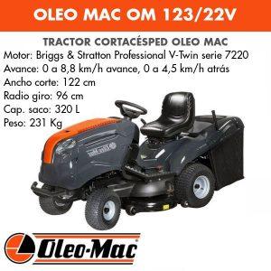 Tractor Cortacésped Oleo Mac OM 123/22V