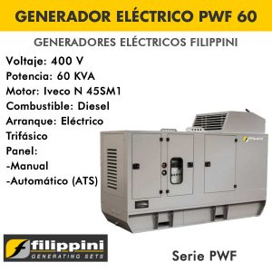 Generador eléctrico Filippini PWF60 60 KVA Trifásico
